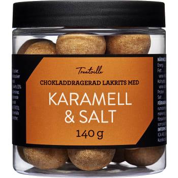 Lakritskulor Karamell & salt 140g Treatville