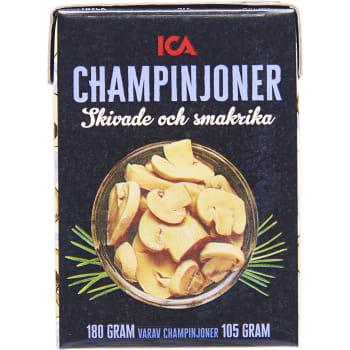Champinjoner skivade och smakrika 180g ICA
