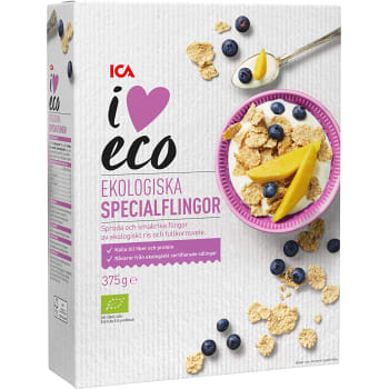 Specialflingor Ekologisk 375g ICA i Love Eco