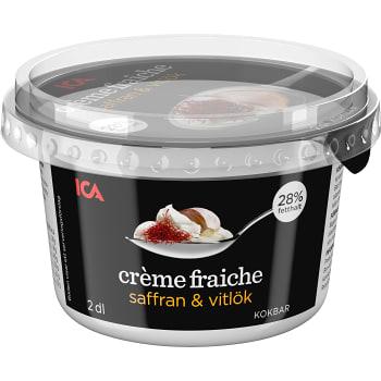Crème fraiche Saffran Vitlök 2dl ICA
