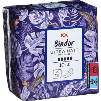 Ultra Natt Binda 10-p ICA