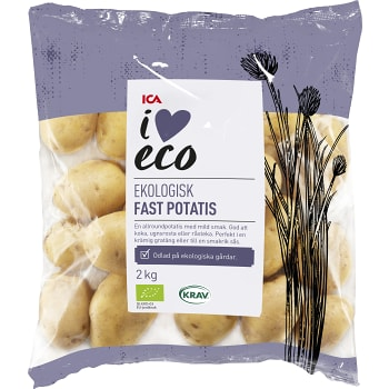 Fast potatis Ekologisk 2kg KRAV Klass 1 ICA I love eco