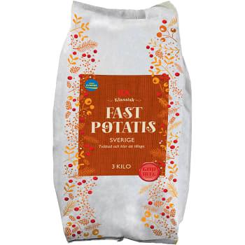 Fast potatis 3kg Klass 1 ICA