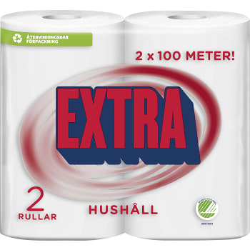 Hushållspapper Extra 2-p Miljömärkt Edet
