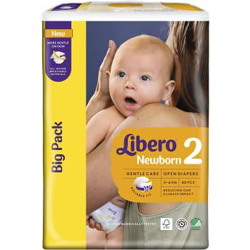 Blöjor Newborn Storlek 2 3-6kg 88-p Miljömärkt Libero
