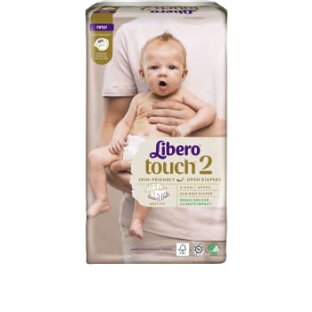 Blöjor Touch Strl 2 3-6kg 64-p Miljömärkt Libero