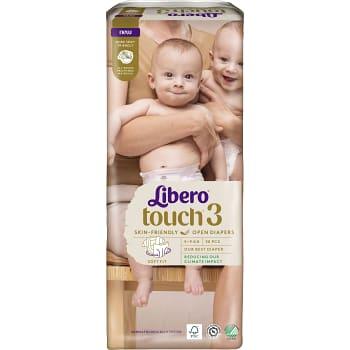 Blöjor Touch Strl 3 4-8kg kg Miljömärkt 50-p Libero