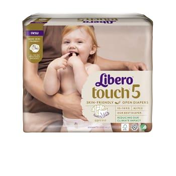 Blöjor Touch Strl 5 10-14kg Miljömärkt 42-p Libero