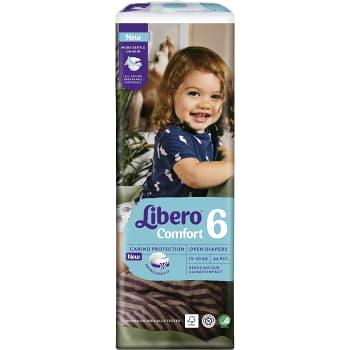 Blöjor Comfort Strl 6 13-20kg 44-p Miljömärkt Libero