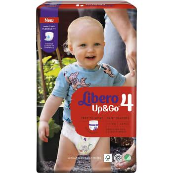 Byxblöjor Up&Go Strl 4 7-11kg 44-p Miljömärkt Libero