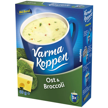 Ost & Broccolisoppa 3 portioner 6dl Varma Koppen