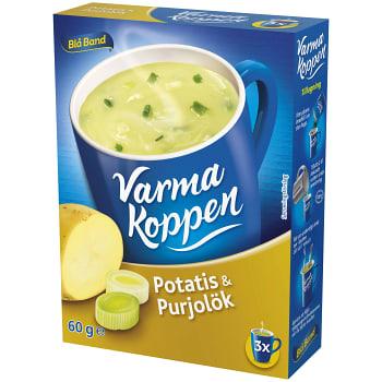 Potatis & purjolöksoppa 3 portioner 6dl Varma Koppen