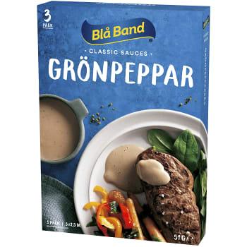 Grönpepparsås 3-p 7,5dl Blå Band