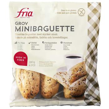Grov minibaguett Glutenfri Mjölkfri Fryst 280g Fria