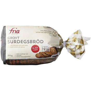 Grov Surdbröd Glutenfri 500g Fria