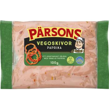 Vegoskivor paprika 100g Pärsons