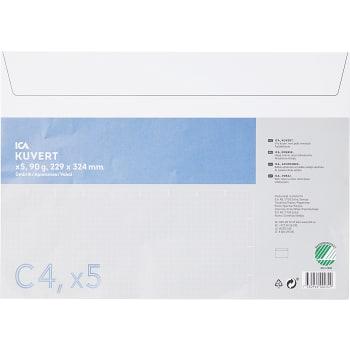 Kuvert Vit C4 5-p ICA Home