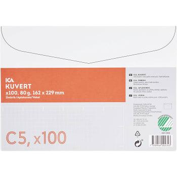 Kuvert Vit C5 100-p ICA Home
