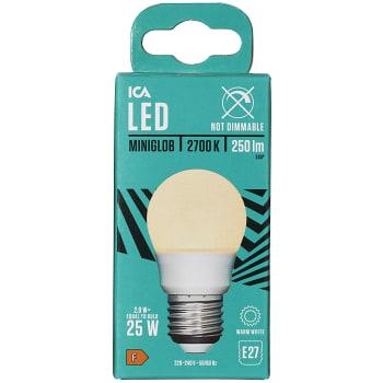LED-Lampa Klot 3,4W E27 250lm ICA Home