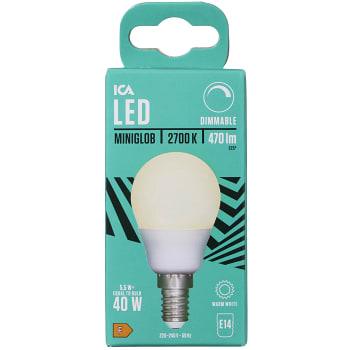 LED-Lampa Klot 5,7W E14 470lm Dimbar ICA Home