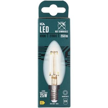 LED-lampa Filament Kron 2.3W E14 ICA Home