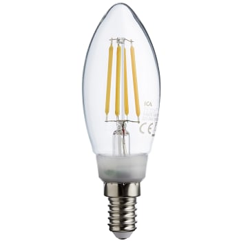 LED filament kron 3,6W E14 470lm dimbar ICA Home