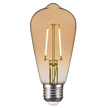 LED filament Edison ST64 1,7W E27 100lm Guld ICA Home
