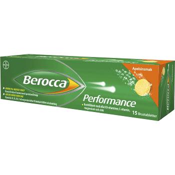 Performance Apelsinsmak Brustablett Kosttillskott 15-p Berocca