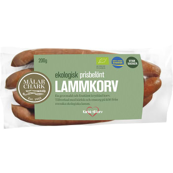 Lammkorv Ekologisk 200g Mälarchark
