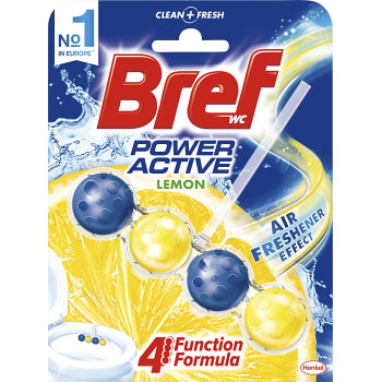 Power active Lemon Doftblock Toalettrengöring 53g WC Bref