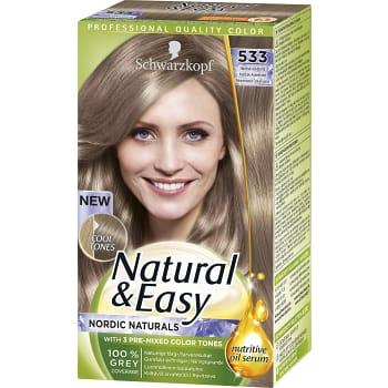 Hårfärg 533 Askblond 1-p Natural & Easy Schwartzkopf