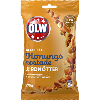 Honungsrostade Jordnötter 175g OLW