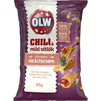 Kikärtschips Chili & Mild Vitlök 85g OLW
