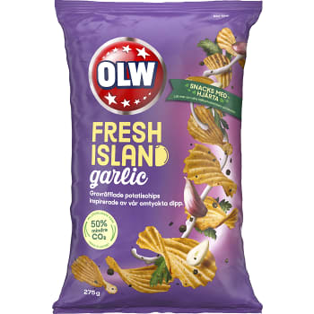 Chips Fresh Island & Garlic 275g OLW