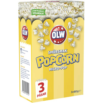 Popcorn Smörsmak Micropop 3-p 240g OLW