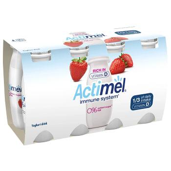 Yoghurtdryck Jordgubb 100g 8-p Actimel