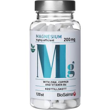 Kosttillskott Magnesium 200mg 120-p Biosalma