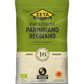 Parmigiano Reggiano riven 16 mån Ekologisk 50g Zeta