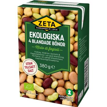 Bönor 4 blandade Ekologisk 230g Zeta