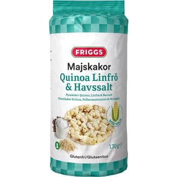 Majskakor Quinoa Linfrö & Havssalt Glutenfri 130g Friggs