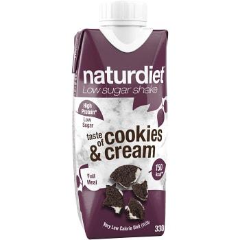 Cookies & Cream Shake 330ml Naturdiet