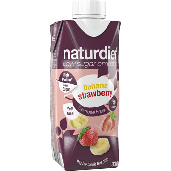 Smoothie Banan Jordgubb 330ml Naturdiet