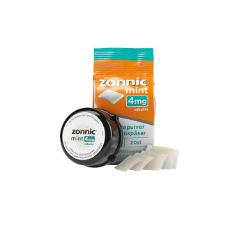 Munhålepulver Mint 4mg 20-p Zonnic