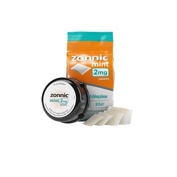 Munhålepulver Mint 2mg 20-p Zonnic