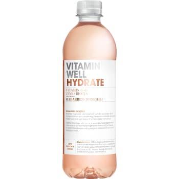 Hydrate Rabarber & jordgubb 50cl Vitamin Well
