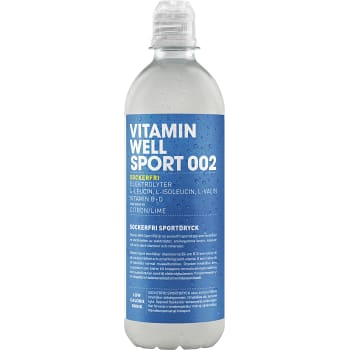 002 Lemon & lime Sportdryck 500ml Vitamin Well