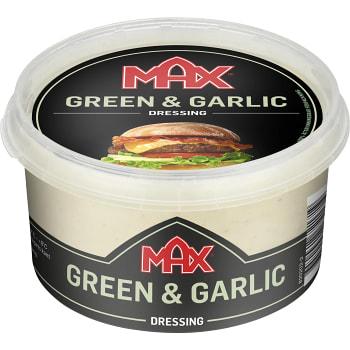 Hamburgerdressing Green & garlic 220ml Max