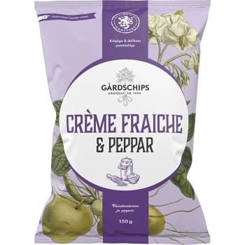 Creme fraiche & peppar 150g Gårdschips