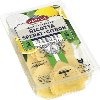Grand panzerotti ricotta Spenat & citron 250g Paolos