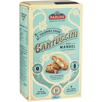Cantuccini med Mandel 160g PAOLOS